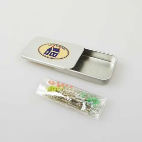 Little House Glass Head Pins