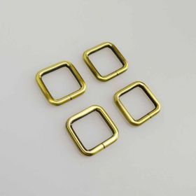 20mm Antique Brass Rectangle Ring