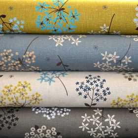 Cotton and linen blend fabric